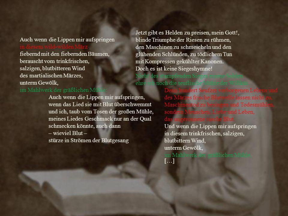 Vor Ostern Im zweiten Teil des Werks erscheint die leichte Liedform, weil die Stürme der Seele still werden.