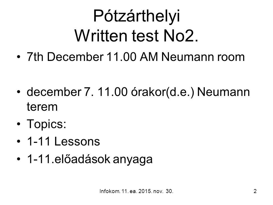 NEPTUN vizsgaidőpontok dec.16. szerda 10:00 dec. 16.