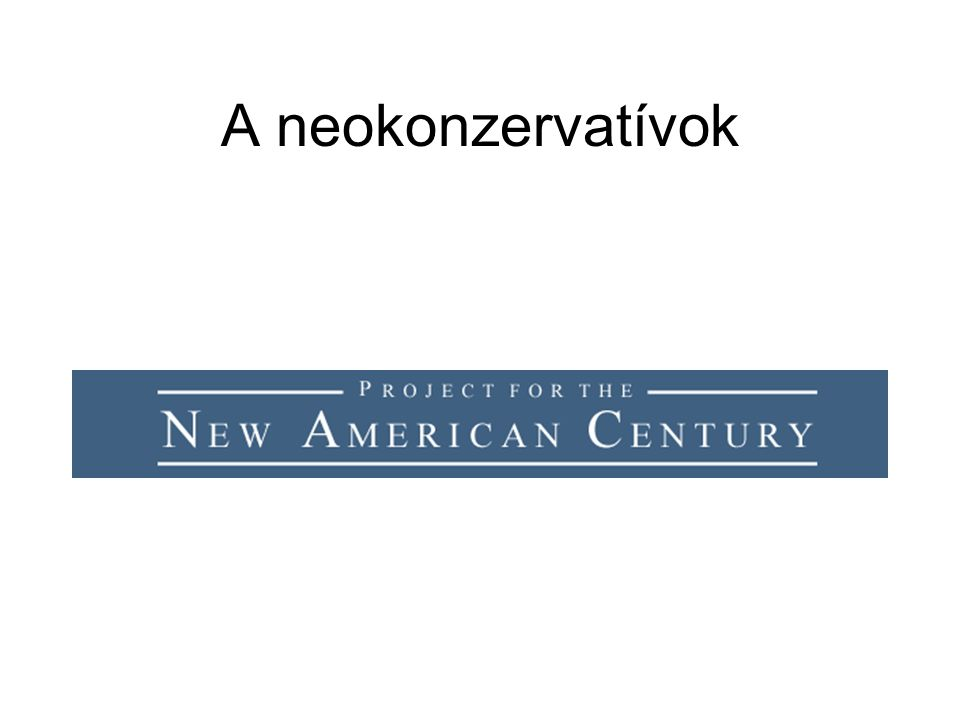 A neokonzervatívok