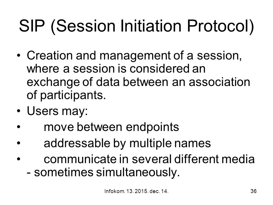 Infokom. 13. 2015. dec. 14.35 Key issues in VoIP SIP Voice CODEC Packet Loss Control