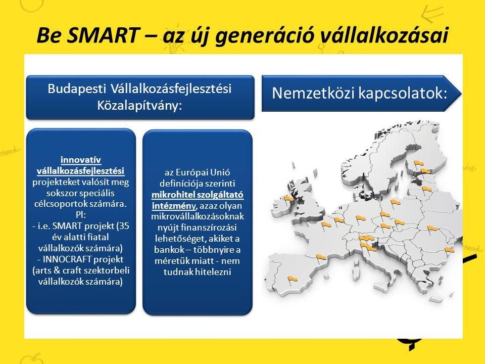 Be SMART – az új generáció vállalkozásai i.e.