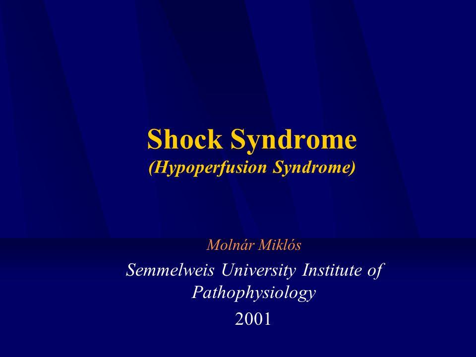 Shock Syndrome (Hypoperfusion Syndrome) Molnár Miklós Semmelweis University Institute of Pathophysiology 2001