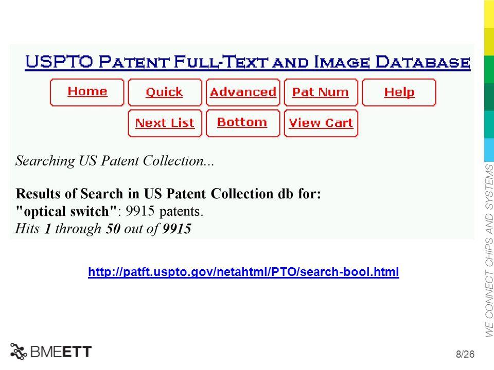 /26 8 http://patft.uspto.gov/netahtml/PTO/search-bool.html