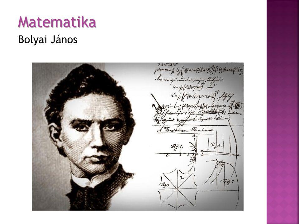 Matematika Bolyai János