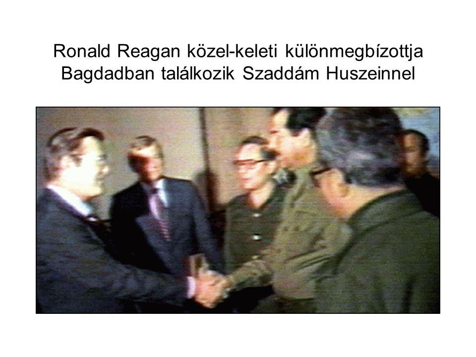Ronald Reagan közel-keleti különmegbízottja Bagdadban találkozik Szaddám Huszeinnel