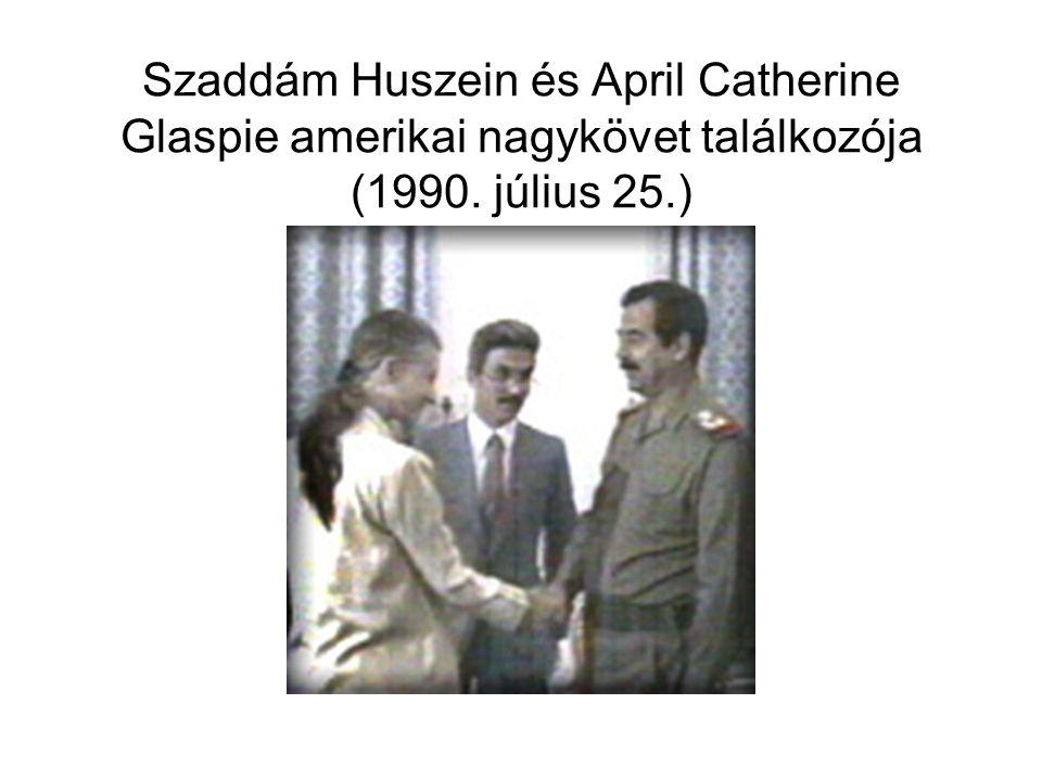 Szaddám Huszein és April Catherine Glaspie amerikai nagykövet találkozója (1990. július 25.)