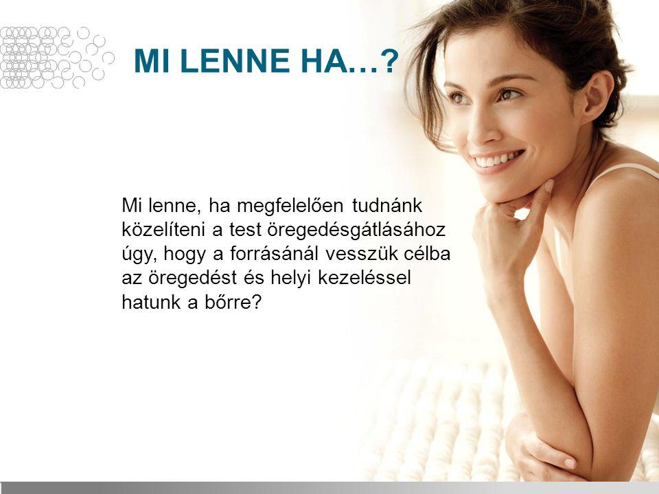 MI LENNE HA…? Mi lenne, ha megfelelően tudnánk közelíteni a test öregedésgátlásához úgy, hogy a forrásánál vesszük célba az öregedést és helyi kezelés