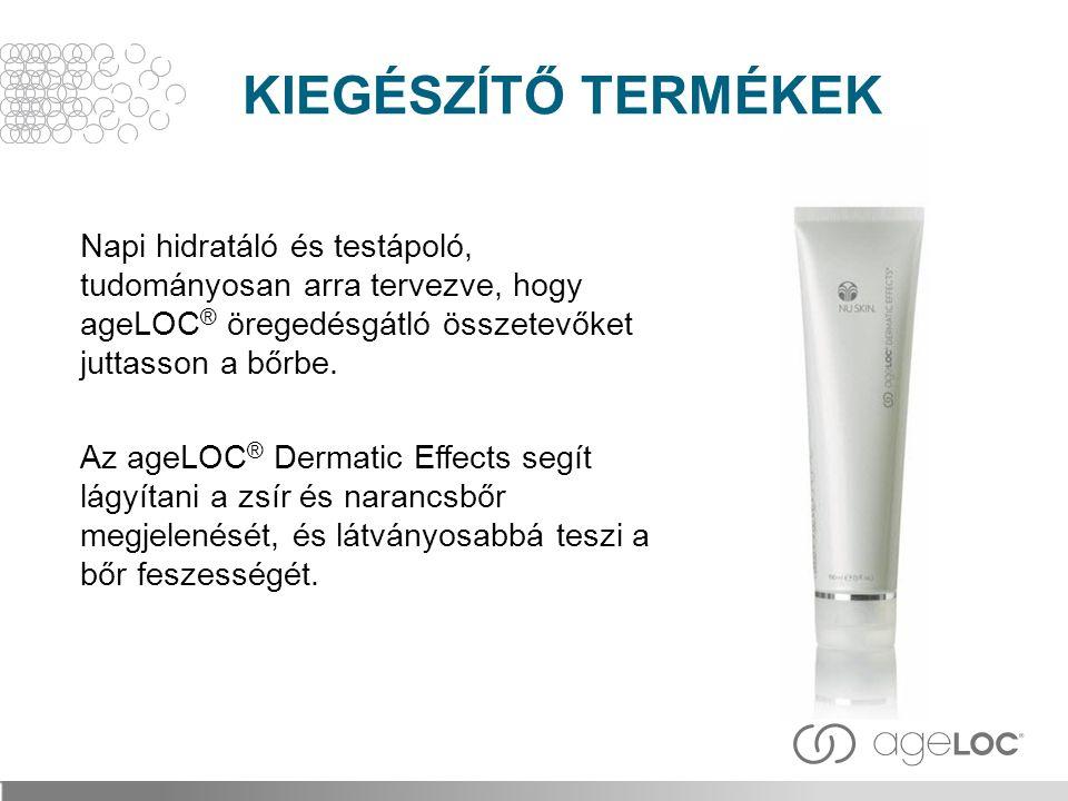Napi hidratáló és testápoló, tudományosan arra tervezve, hogy ageLOC ® öregedésgátló összetevőket juttasson a bőrbe. Az ageLOC ® Dermatic Effects segí