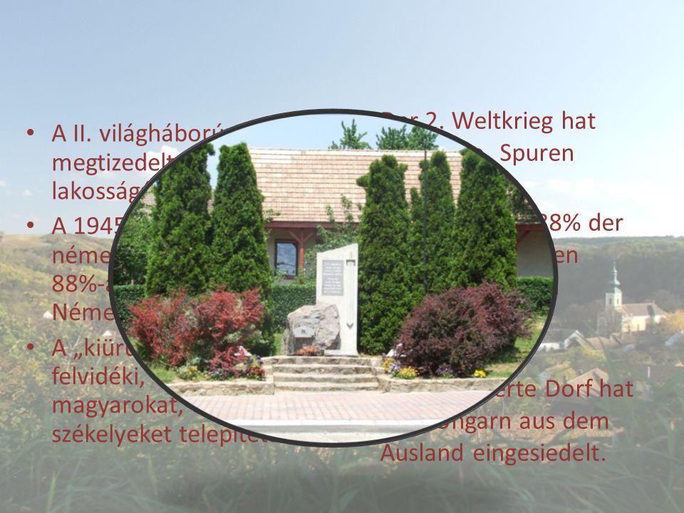 A II.világháború megtizedelte a falu lakosságát.