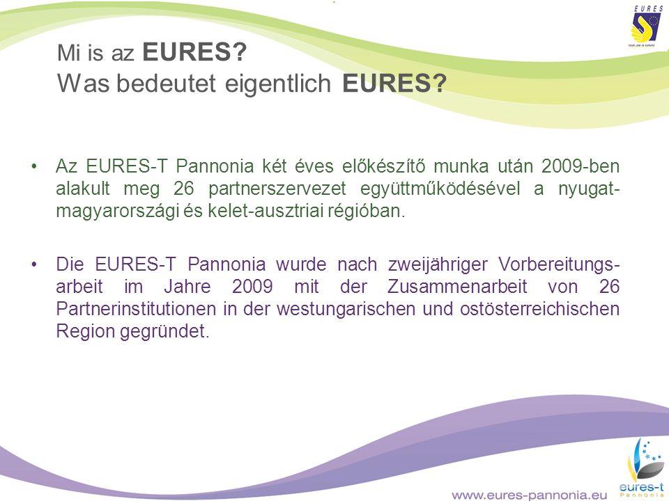Az EURES-T Pannonia két éves előkészítő munka után 2009-ben alakult meg 26 partnerszervezet együttműködésével a nyugat- magyarországi és kelet-ausztri