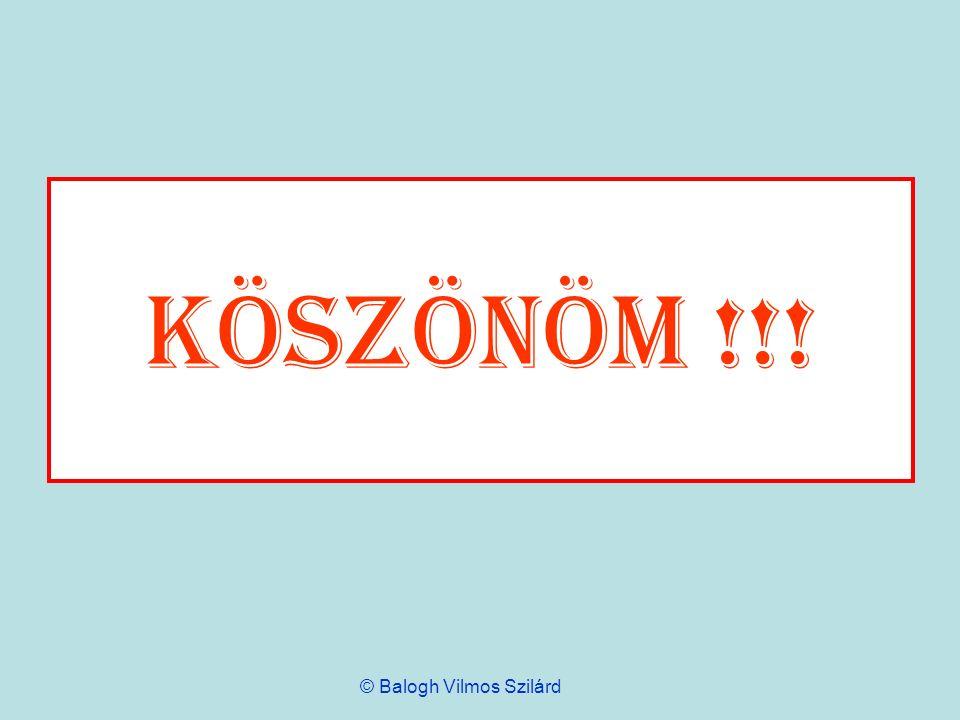 Köszönöm !!! © Balogh Vilmos Szilárd