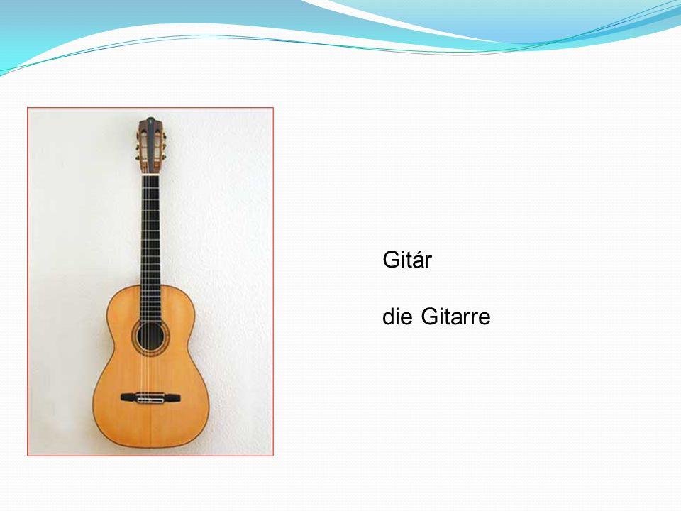 Gitár die Gitarre