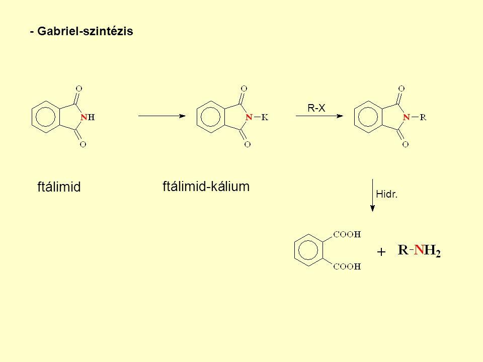 ftálimid ftálimid-kálium - Gabriel-szintézis R-X Hidr.