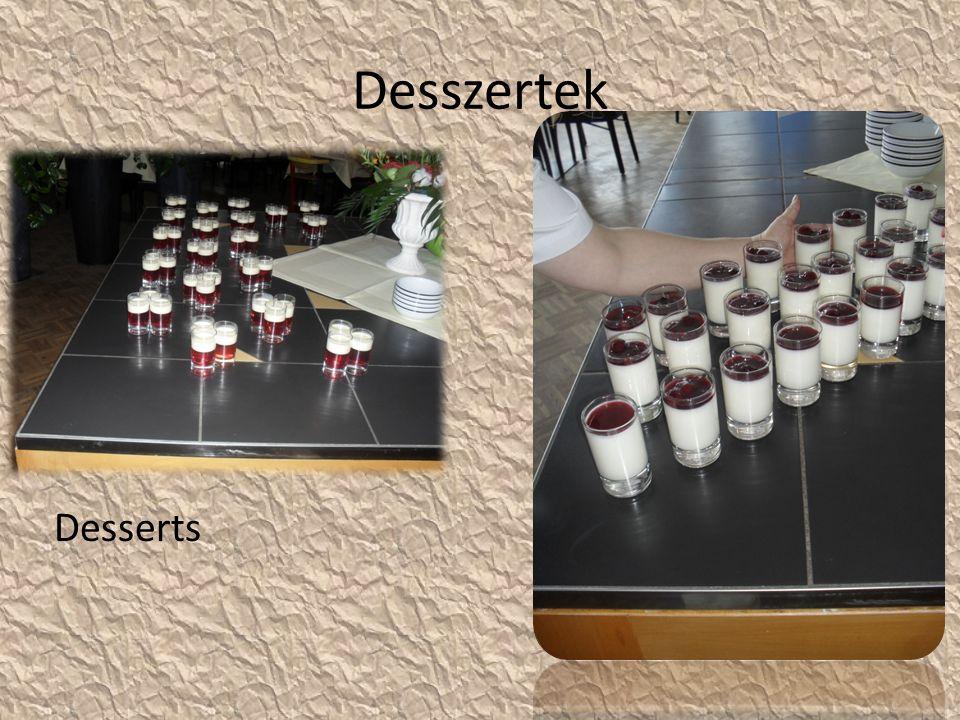 Desszertek Desserts