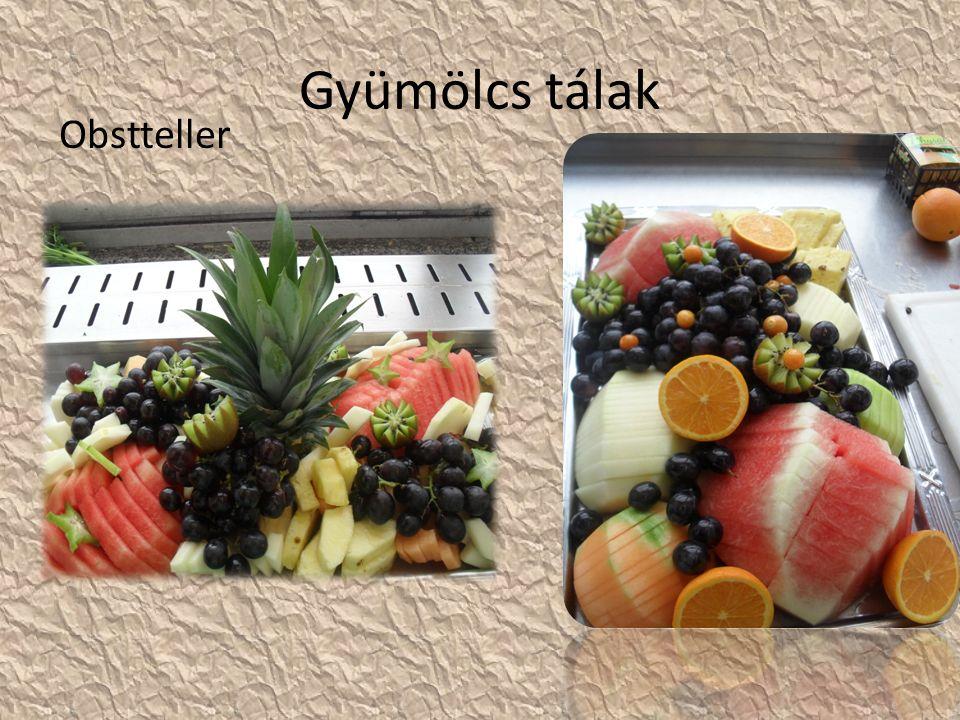 Gyümölcs tálak Obstteller