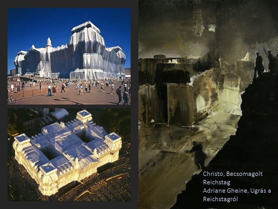 Christo, Becsomagolt Reichstag Adriane Gheine, Ugrás a Reichstagról
