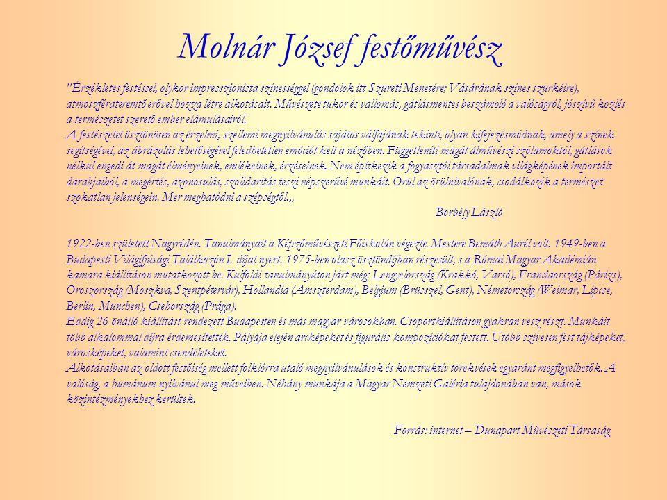 Molnár József festőművész