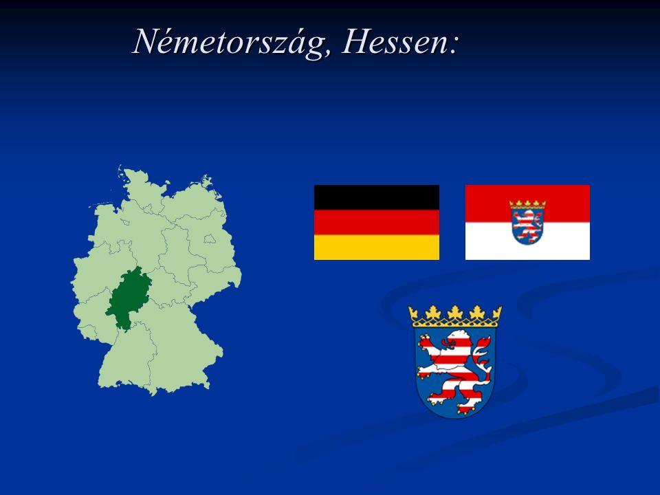 Hessen: Északon Alsó-Szászországgal, északkeleten Türingiával, délkeleten Bajorországgal, délen Baden-Württemberggel, délnyugaton Rajna- vidék–Pfalzzal, északnyugaton pedig Észak- Rajna–Vesztfáliával szomszédos.Alsó-Szászországgal TüringiávalBajorországgal Baden-WürttemberggelRajna- vidék–PfalzzalÉszak- Rajna–Vesztfáliával Hessen tartomány 21 járásból és 5 önálló városból áll.