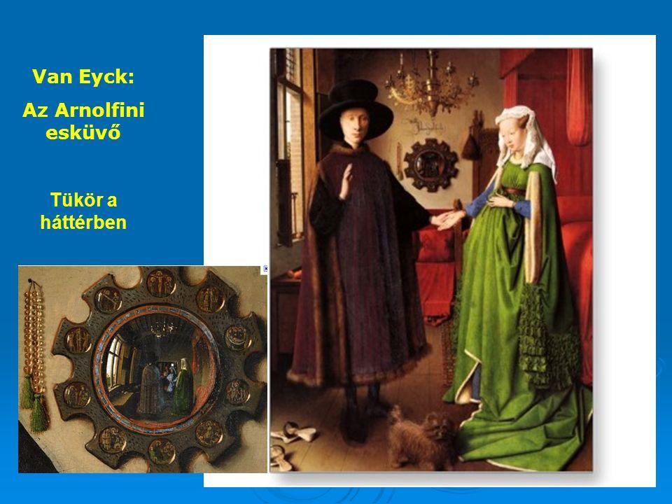 Van Eyck: Az Arnolfini esküvő Tükör a háttérben