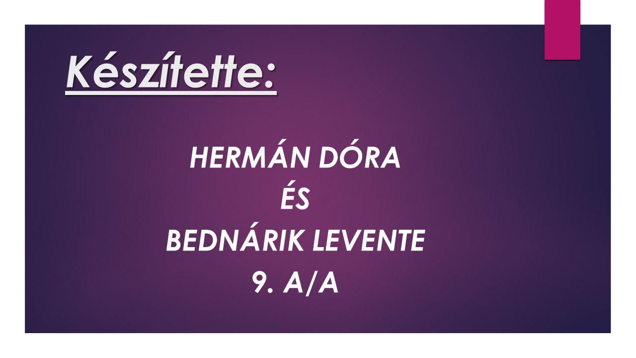 Készítette: HERMÁN DÓRA ÉS BEDNÁRIK LEVENTE 9. A/A