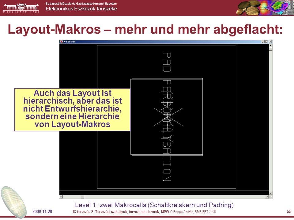 Budapesti Műszaki és Gazdaságtudomanyi Egyetem Elektronikus Eszközök Tanszéke 2009-11-20 IC tervezés 2: Tervezési szabályok, tervező rendszerek, MPW ©