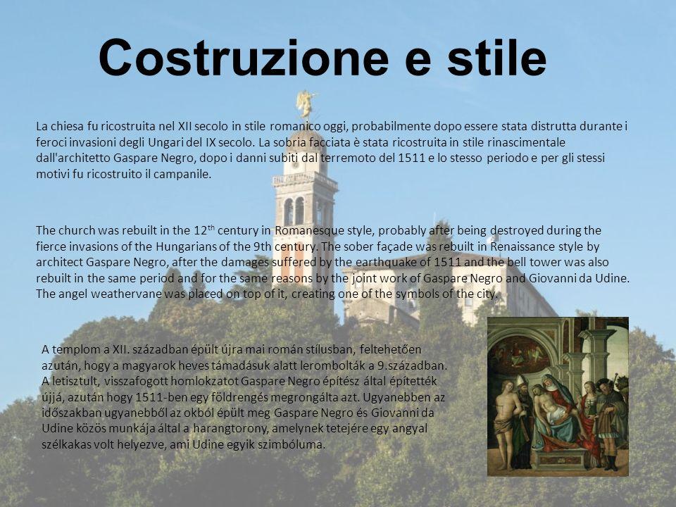 Costruzione e stile La chiesa fu ricostruita nel XII secolo in stile romanico oggi, probabilmente dopo essere stata distrutta durante i feroci invasio
