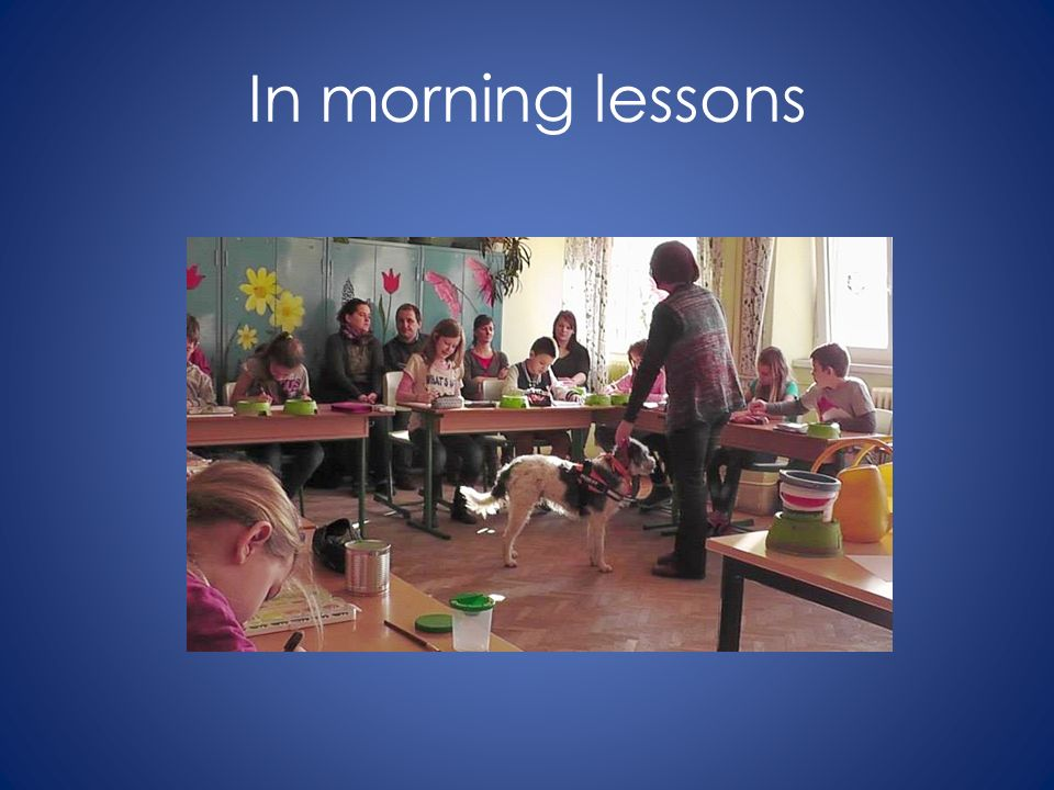 In morning lessons