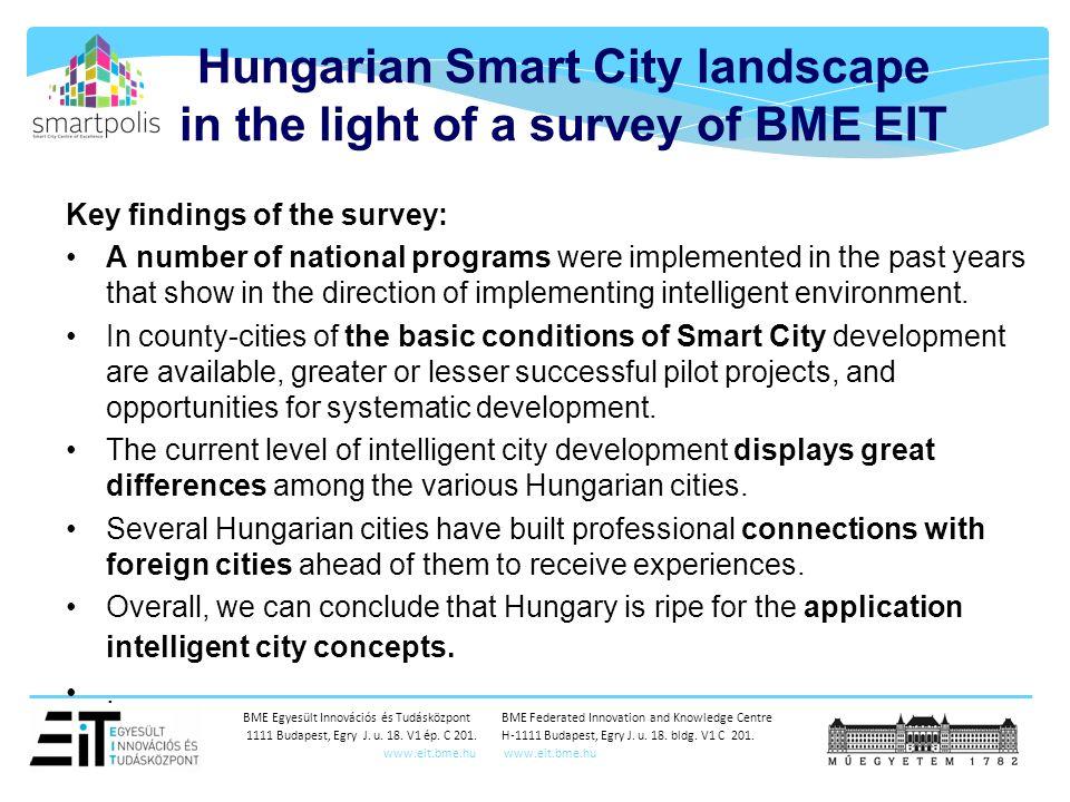 BME Egyesült Innovációs és Tudásközpont BME Federated Innovation and Knowledge Centre 1111 Budapest, Egry J.