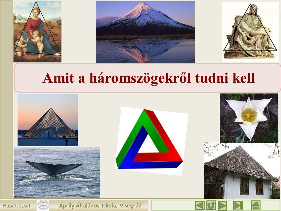 Hábel József Áprily Általános Iskola, Visegrád Amit a háromszögekről tudni kell