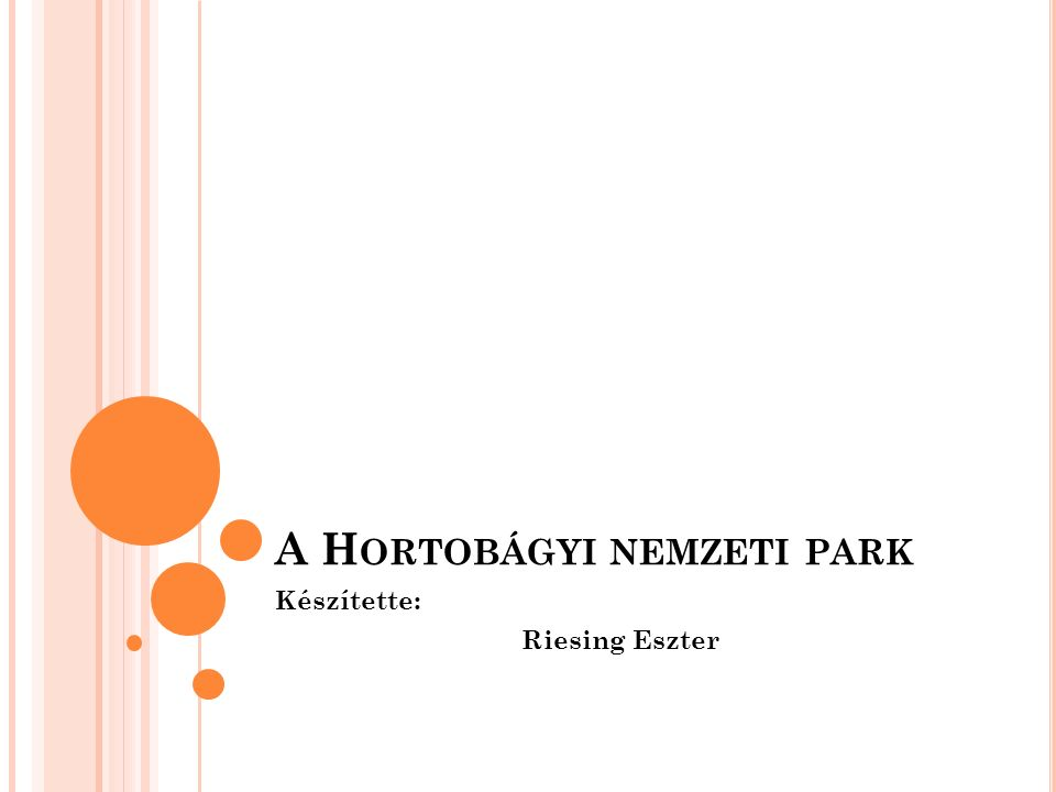 A NEMZETI PARK TÖRTÉNETE A Hortobágyi Nemzeti Park hazánk első nemzeti parkja, melyet 1973.
