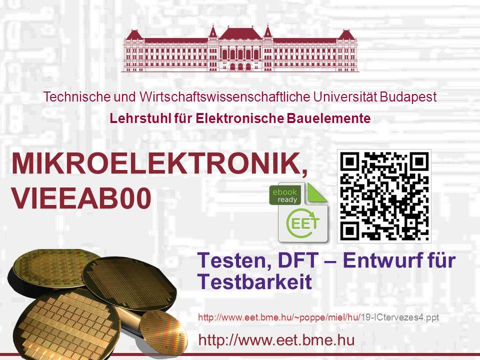 http://www.eet.bme.hu Technische und Wirtschaftswissenschaftliche Universität Budapest Lehrstuhl für Elektronische Bauelemente MIKROELEKTRONIK, VIEEAB