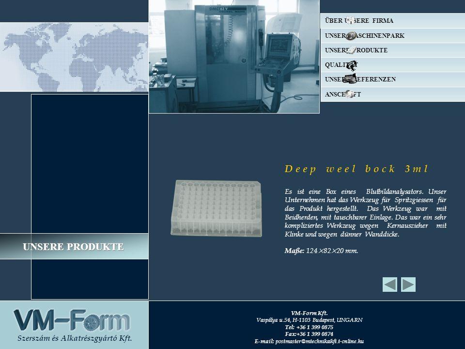 D e e p w e e l b o c k 3 m l Es ist eine Box eines Blutbildanalysators. Unser Unternehmen hat das Werkzeug für Spritzgiessen für das Produkt hergeste