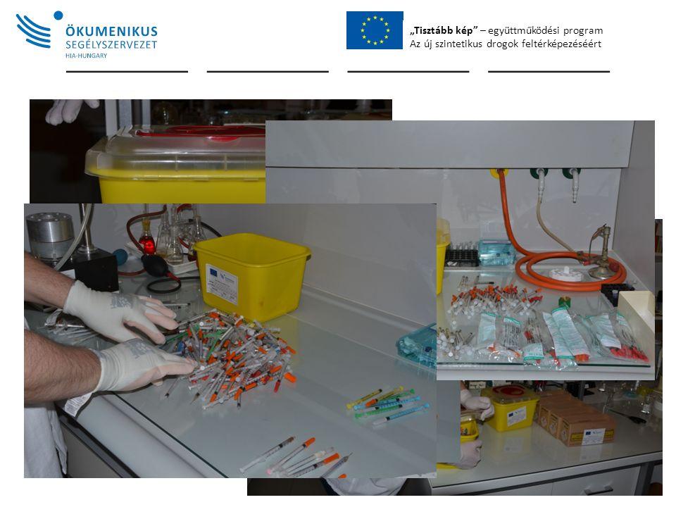 """""""Tisztább kép – együttműködési program Az új szintetikus drogok feltérképezéséért Sample Processing"""