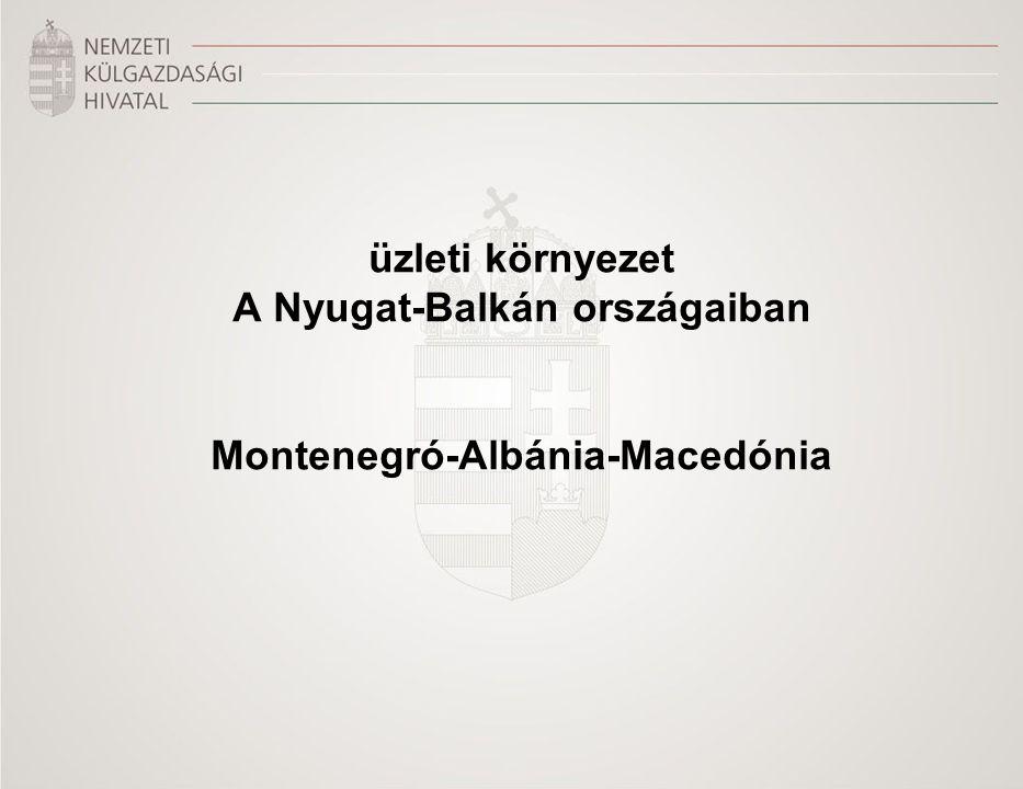 üzleti környezet A Nyugat-Balkán országaiban Montenegró-Albánia-Macedónia