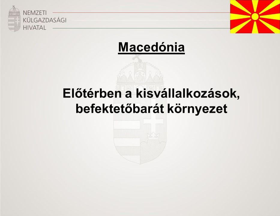 Macedónia Előtérben a kisvállalkozások, befektetőbarát környezet