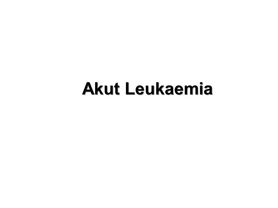 AML Cytogenetics & Prognosis Favorable t(8;21), t(15;17), inv(16) Intermediate (Most patients) normal, +8, +21, +22, del(7q), del(9q), Adverse -5, -7, del(5q), abnormal 3q, complex karyotype (> 3 -5 abnormalities)