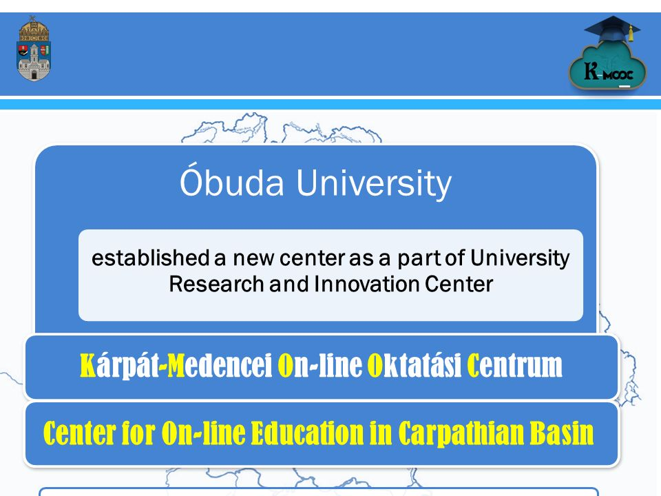K-MOOC Óbuda University established a new center as a part of University Research and Innovation Center 01.
