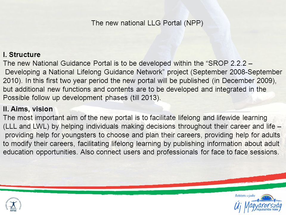 The new national LLG Portal (NPP) I.