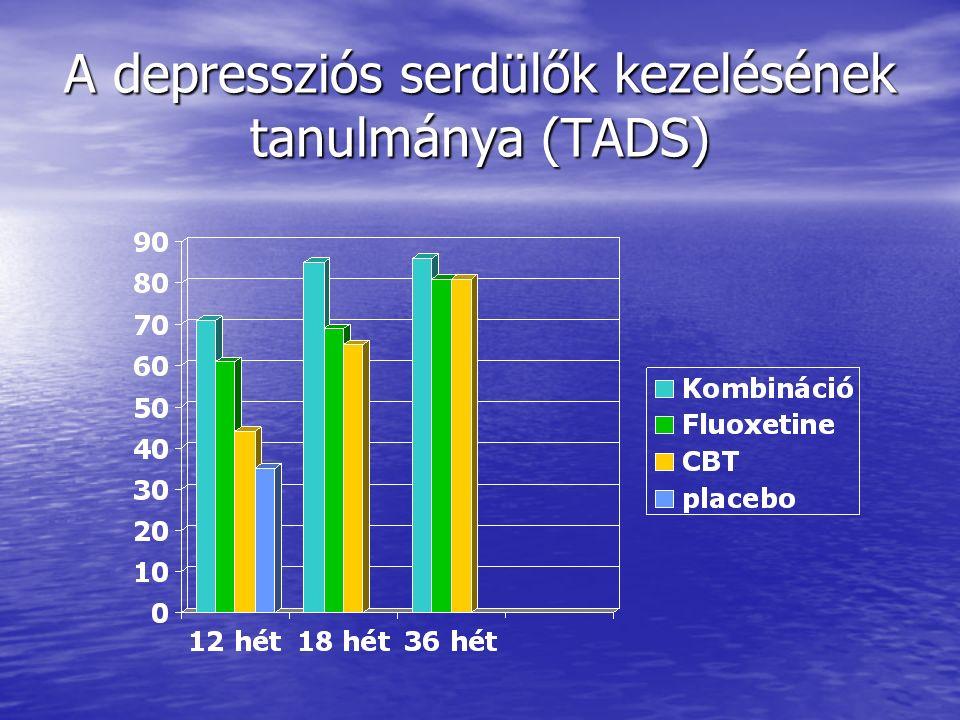 A depressziós serdülők kezelésének tanulmánya (TADS)