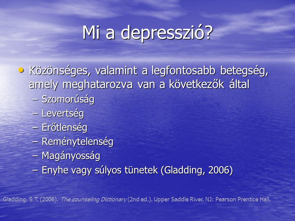 Mi a depresszió.