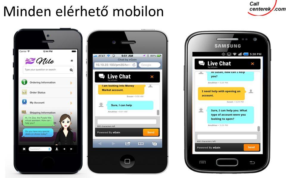 Minden elérhető mobilon
