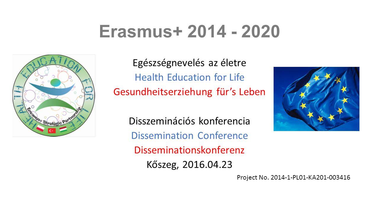 Az Erasmus+ program az Európai Unió 2014-2020 között futó oktatási, képzési, ifjúsági és sport programja.