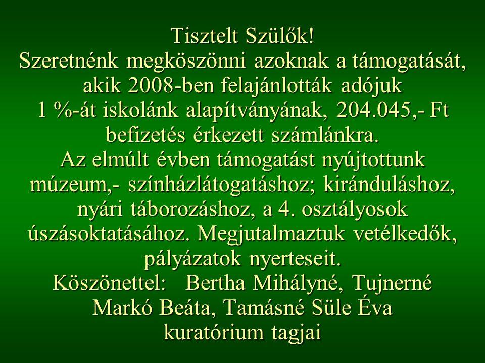 24. oldal Magtár Stúdió - Képújság Tisztelt Szülők.