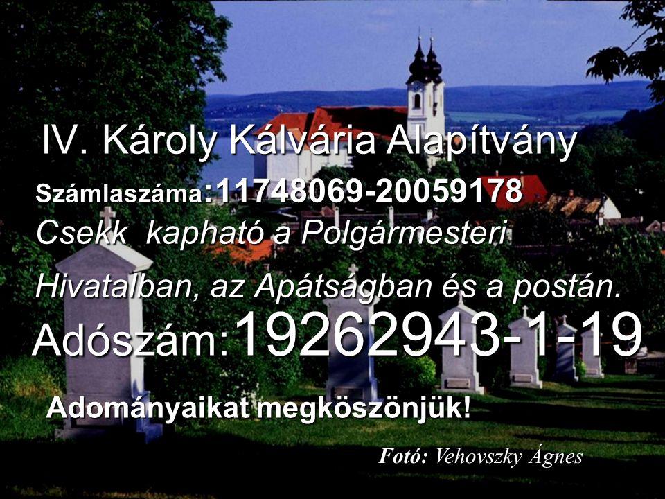 27. oldal Magtár Stúdió - Képújság IV. Károly Kálvária Alapítvány IV.
