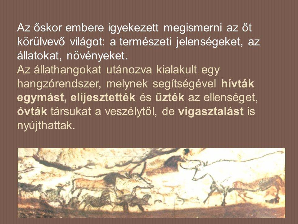 Az őskor embere igyekezett megismerni az őt körülvevő világot: a természeti jelenségeket, az állatokat, növényeket.
