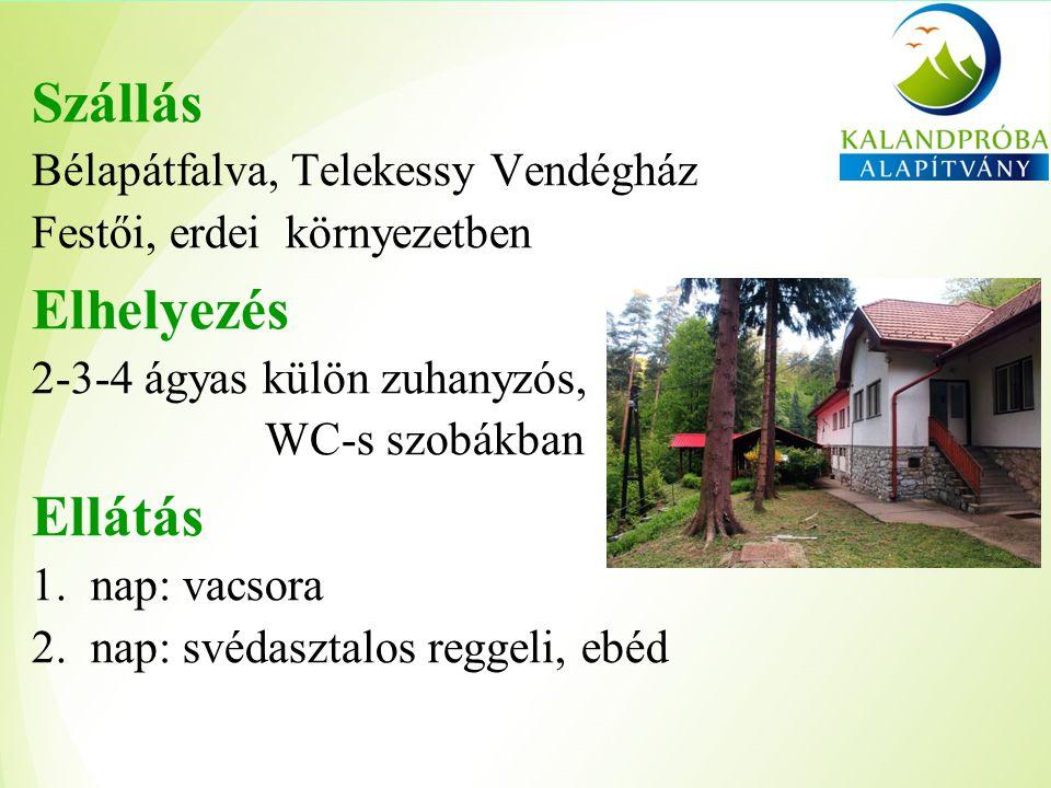 Szállás Bélapátfalva, Telekessy Vendégház Festői, erdei környezetben Elhelyezés 2-3-4 ágyas külön zuhanyzós, WC-s szobákban Ellátás 1.nap: vacsora 2.nap: svédasztalos reggeli, ebéd
