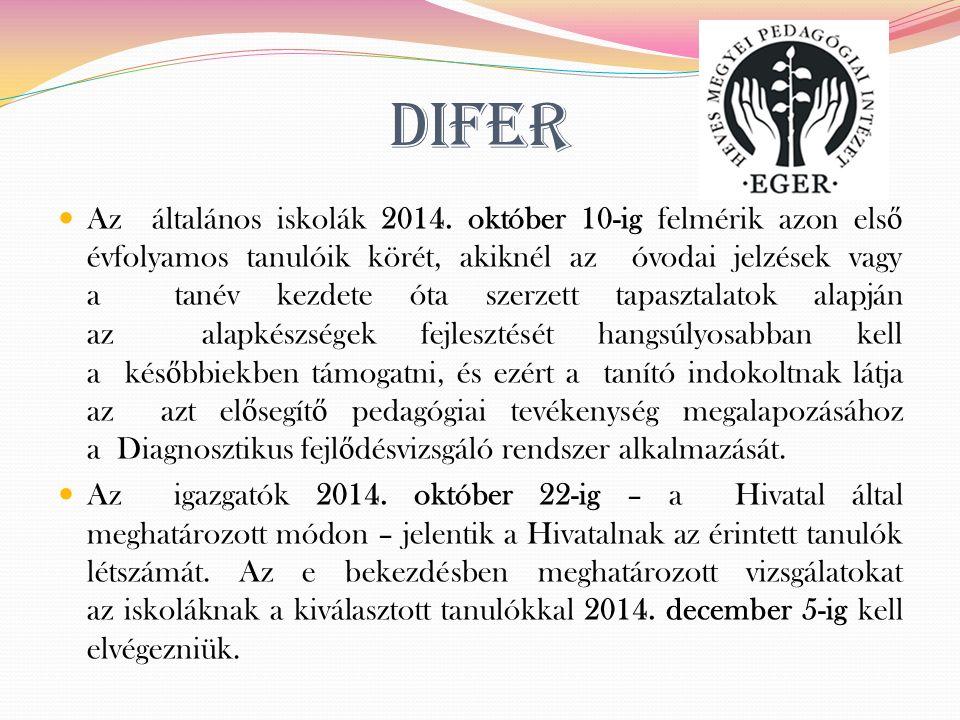 DIFER Az általános iskolák 2014.