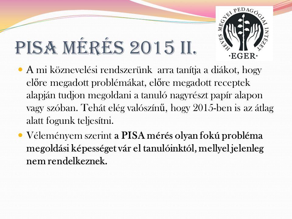 PISA mérés 2015 II.