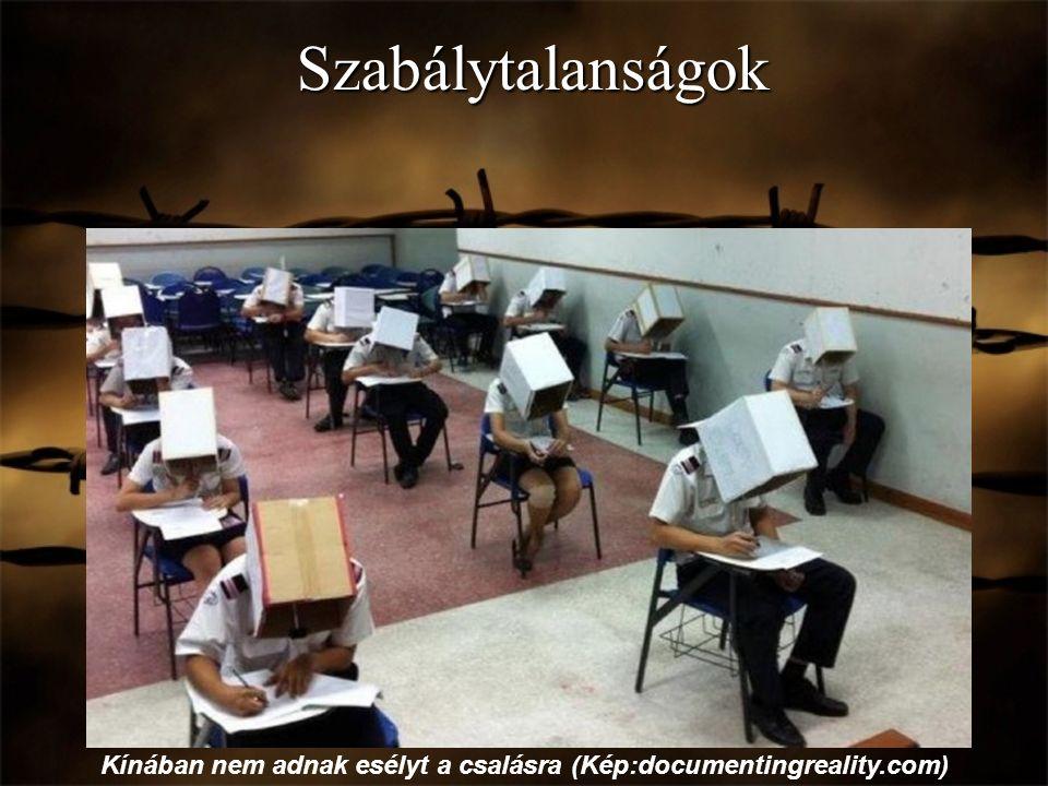 Szabálytalanságok Kínában nem adnak esélyt a csalásra (Kép:documentingreality.com)