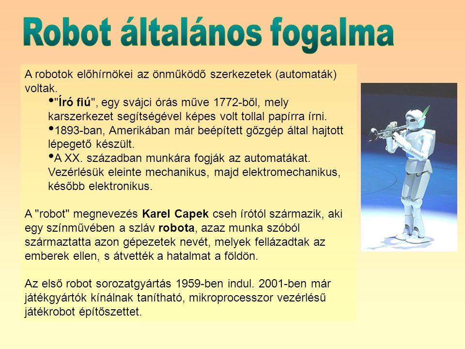Az irányítórendszer egyrészt parancsokat küld a robot egyes ízületi végrehajtó szerveinek – másrészt kapcsolatot tart fenn a robot feladatát meghatározó külső vezérlőkkel, számítógéppel, más hasonló eszközökkel.